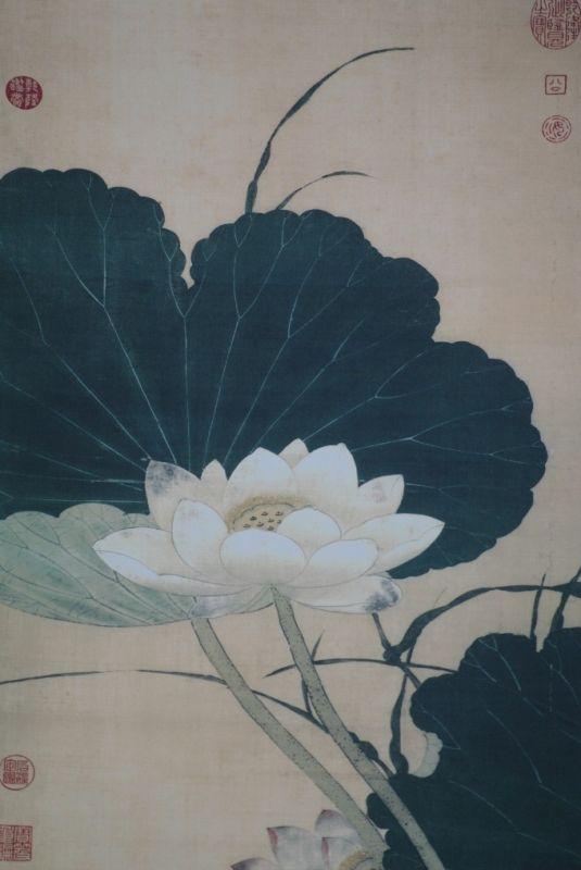chinesische malereien blumen und v gel sommer. Black Bedroom Furniture Sets. Home Design Ideas