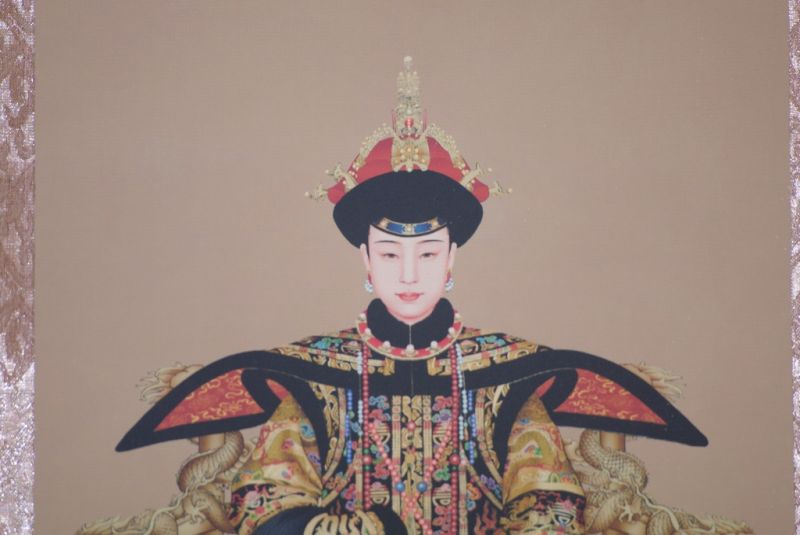 Small Chinese ancestor couple Nurhaci emperor 2