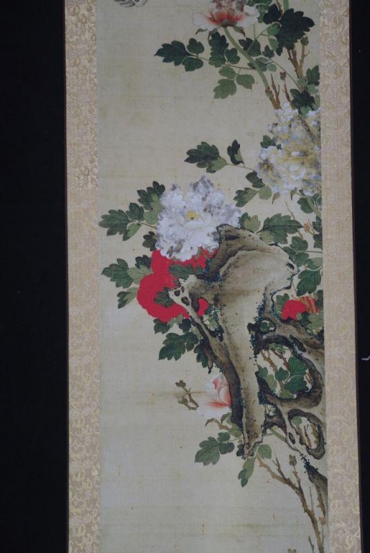 chinesische malereien rote und wei e blumen. Black Bedroom Furniture Sets. Home Design Ideas