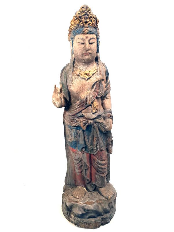 Chinese Wooden Statue Standing goddess