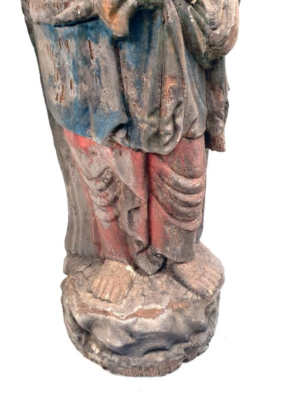 Chinese Wooden Statue Standing goddess 3