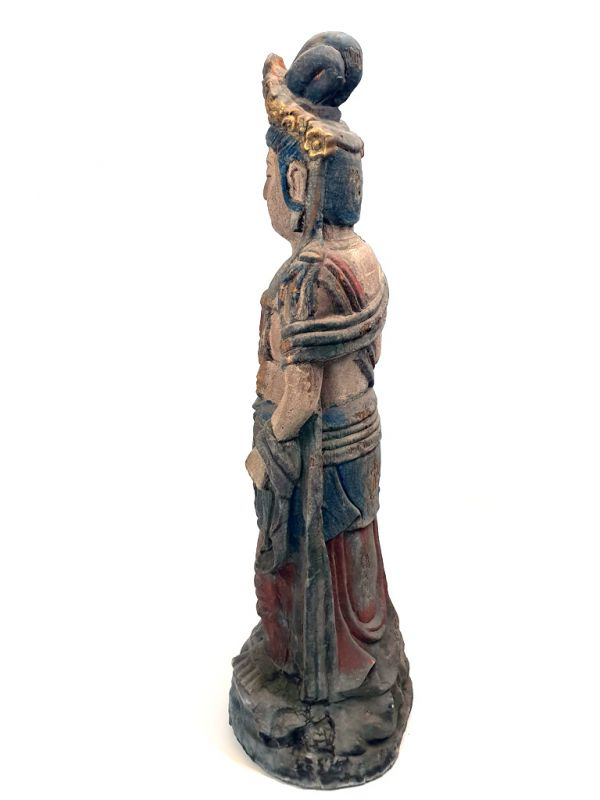 Chinese Wooden Statue Standing goddess 4
