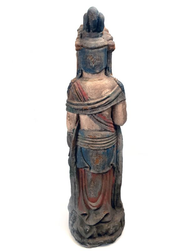 Chinese Wooden Statue Standing goddess 5