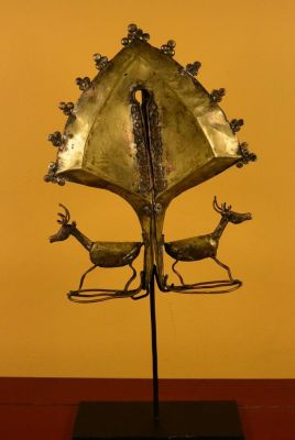 Old Indonesian Jewel - Large Mamuli from Sumba - Deer