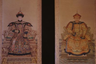 Chinese ancestor couple Jiaqing emperor