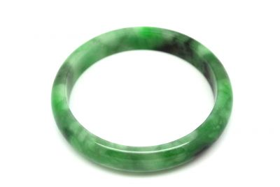 Jade Bracelet Bangle Class A Green spotted 6 15cm