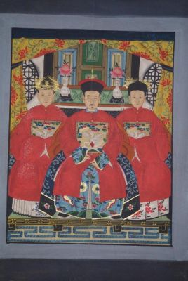 Chinese ancestors Qing Dynasty 3 people