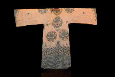 Ancient Chinese Theater Costume Light brown Dragon 2
