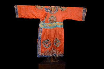 Ancient Chinese Theater Costume Orange Dragon