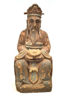 Chinese Wooden Statue Wise Buddhist