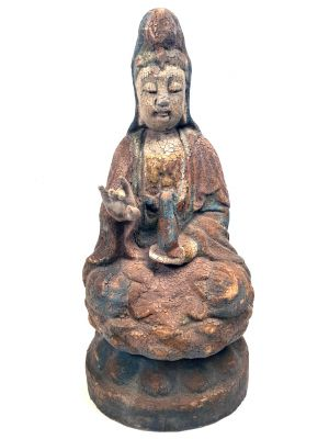 Chinesische Holz Statue GuanYin