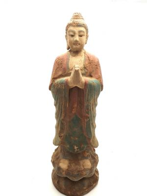 Wooden Small Statue Standing buddha