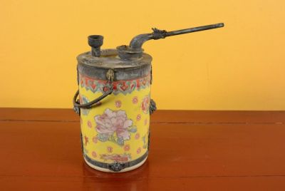 Chinese Porcelain Water Pipe - Yellow