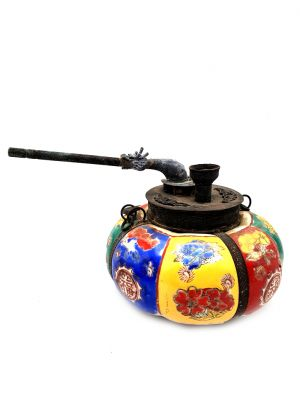 Chinese Porcelain Water Pipe - Multicolor