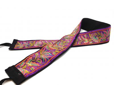 Miao Belts - Embroidery - Purple