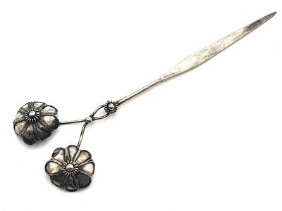 Chinese ethnic double Flowers hairpins