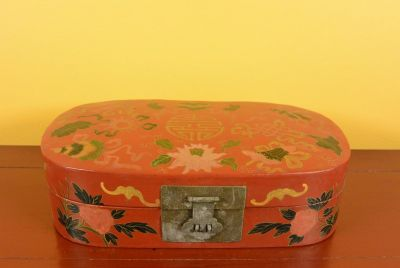 Small Chinese lacquer box - Red