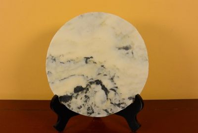 Small Chinese Marble Dreamstone Painting - Mountain