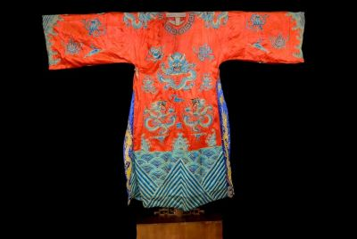Ancient Chinese Theater Costume - Red Dragon