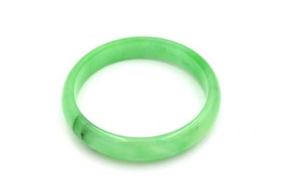 Jade Bracelet Bangle Class A Translucent Green