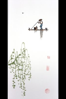 Modern Chinese painting - watercolor on rice paper - The mangrove 2