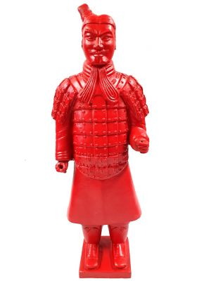 Terracotta Warrior - Terracotta army - Modern Version - Imperial Red