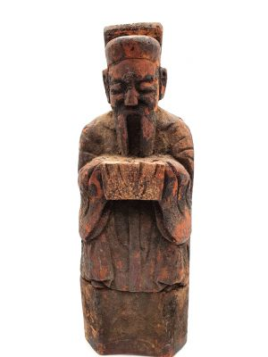 Chinese Votive Statue - Qing Dynasty - Old man