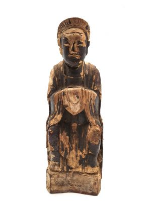Chinese Votive Statue - Qing Dynasty - Monk