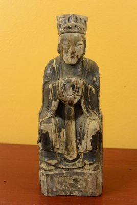 Chinese Votive Statue - Qing Dynasty - Taoist monk