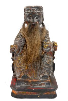 Old reproduction - Chinese votive statue - Monochrome monk