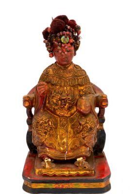 Old reproduction - Chinese votive statue - Lady