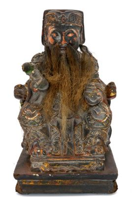 Old reproduction - Chinese votive statue - Old man