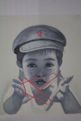 Chinese Painting on Canvas - Contemporary Artist Zhu Yiyong - Boy
