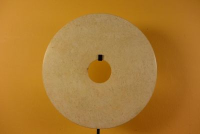 Chinese Bi Disk - Jade Veined - 25cm - Exceptional