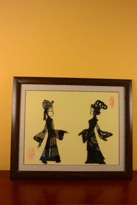 Chinese shadow theater - Framed PiYing puppets - Black