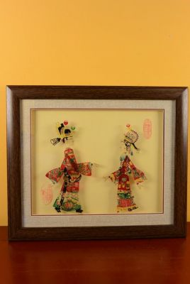 Chinese shadow theater - Framed PiYing puppets - Color