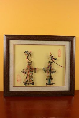 Chinese shadow theater - Framed PiYing puppets - Color 2