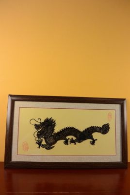 Chinese shadow theater - Framed PiYing puppets - Dragon 2