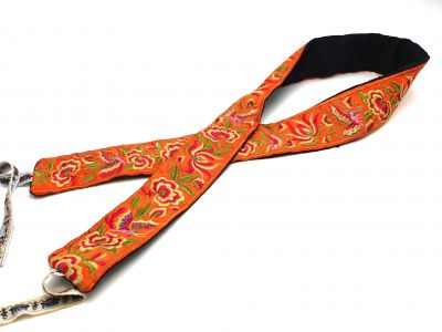 Miao Belts Embroidery Yellow Safran