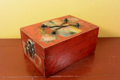 Old Chinese Chest Flowers and landscapes