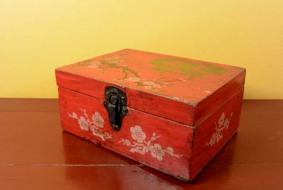 Old Chinese Chest - Flowers and cherry tree
