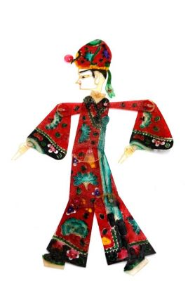 Chinese shadow theater - PiYing puppets - Man - Red