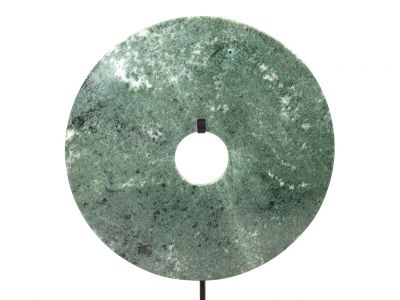 Chinese Bi in Jade 25cm - Green