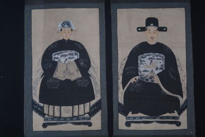 Chinese ancestors couple Painting from China Modern