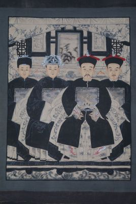 Modern Chinese ancestors Qing Dynasty 4 people