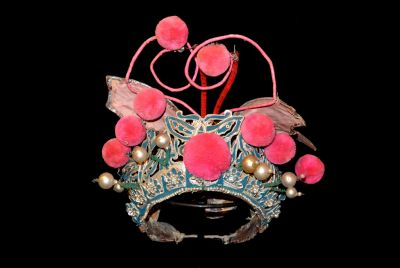 Ancient Chinese Theatre Hat Pink butterfly