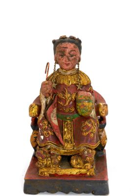 Old reproduction - Small Chinese votive statue - Junge Kaiserin
