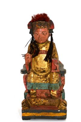 Old reproduction - Small Chinese votive statue - Qing