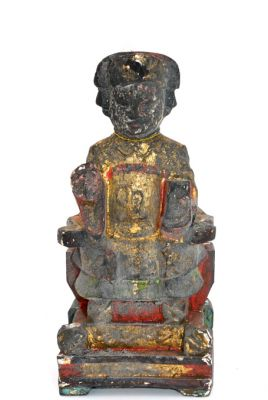 Old reproduction - Small Chinese votive statue - Mandarin