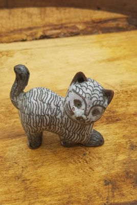 Chinese Cloisonné Animal - White cat